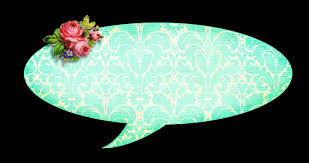 shabby chic speech bubble